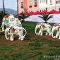 叁柒度玻璃�景�^雕塑定制彩�L大象卡通�游锕��@�G地�V�鼍坝^雕塑�[件