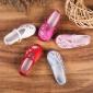 19春秋�H子�和��C花鞋女童鞋老北京花布鞋 牛筋底防滑�W生表演鞋